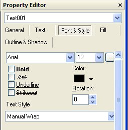 Font and style