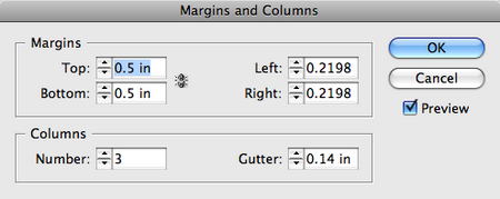 Margins and columns