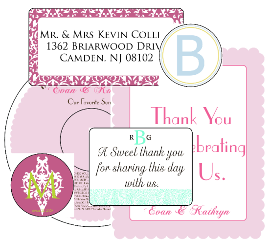 Wedding Labels For Free In Fillable PDF
