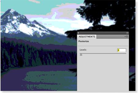 Posterization of Mt. Hood
