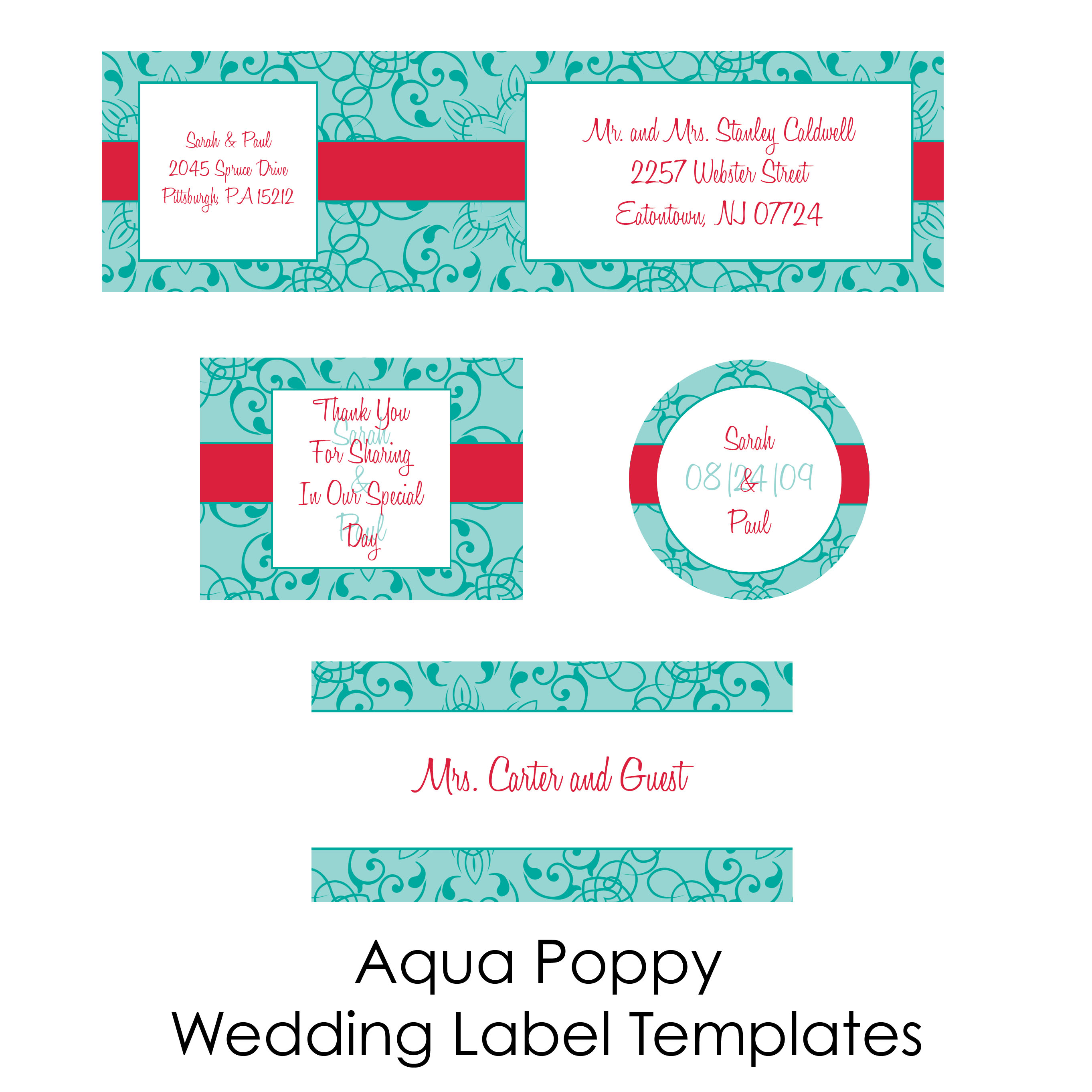 DIY Wedding Labels for free collection two – Wedding Labels Template