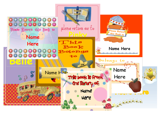 image relating to Free Customized Name Tags Printable referred to as No cost E-book Labels for Youngsters in direction of Customize Printable templates