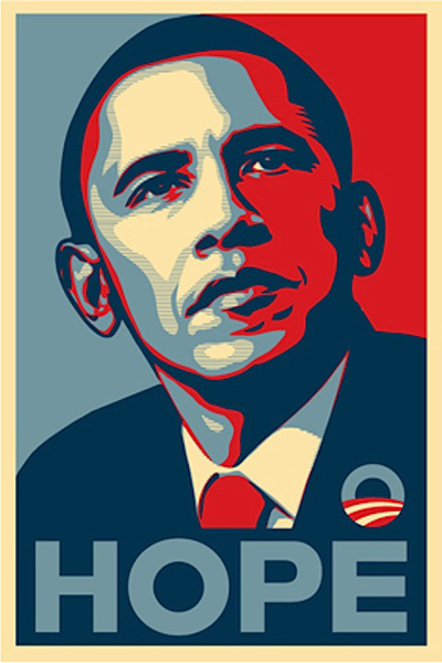 free obama poster labels to personalize