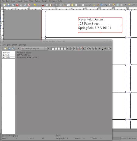 scribus-textframe