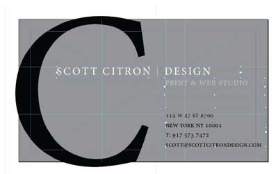 Designing a Business Card with WL-OL244 Template