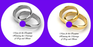 Silver and Gold Wedding Ring CD Designs