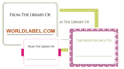 Free BookPlate Labels In Fillable PDF Label Templates Are Printable On Your  Laser And Inkjet Printer. Each Book Label Design Is An Autofilll, Which  Allows ...  Free Label Templates Download