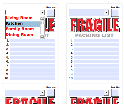Moving & storage Labels: free complete template kit | Worldlabel Blog