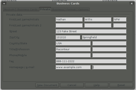 Generating labels and business cards in openoffice worldlabel blog the wajeb Gallery