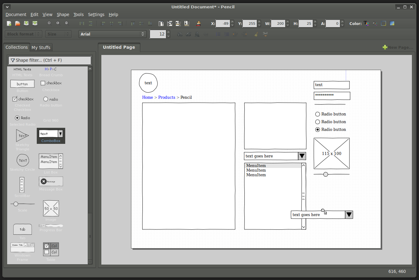 Prototyping with pencil firefox add on worldlabel blog for Evolus pencil templates