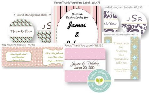 Check out them Wedding Labels by Green Orginals