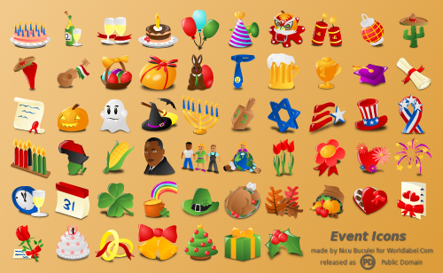 Free Web Icons For Events Holidays Amp Occasions