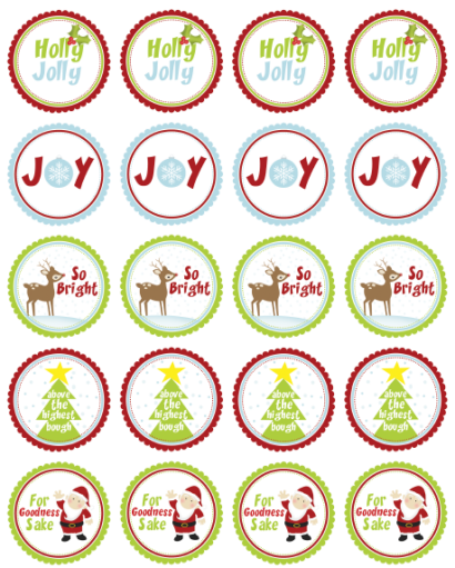 picture regarding Printable Stickers Round identified as Cost-free Xmas Labels through Ink Tree Thrust Cost-free printable