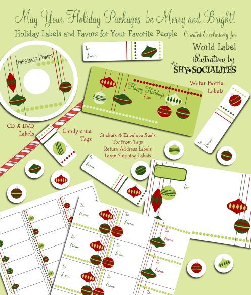 holiday labels holiday label templates free printable worldlabel