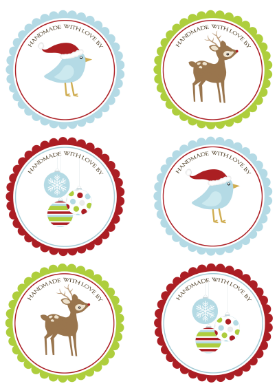 Lively image inside printable christmas stickers