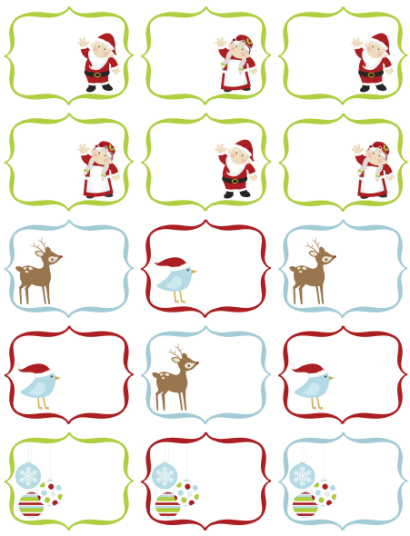 graphic about Printable Christmas Stickers titled Cost-free Xmas Labels through Ink Tree Thrust Totally free printable