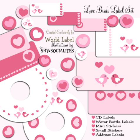 Love Birds Label Set