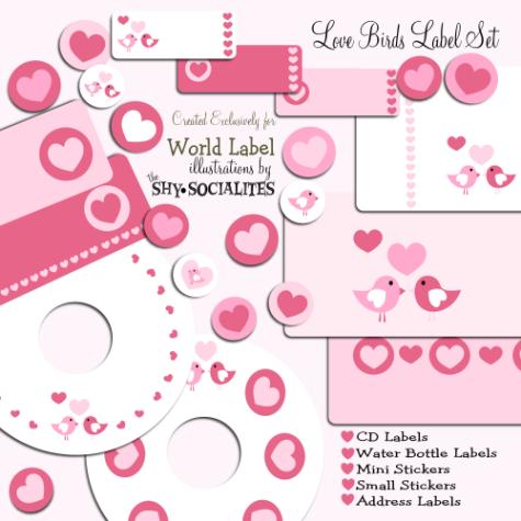 Love Birds Label Set