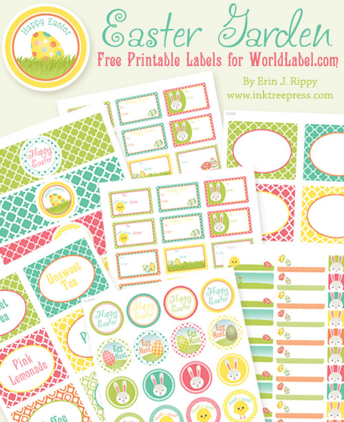 Nerdy image with free printable easter tags