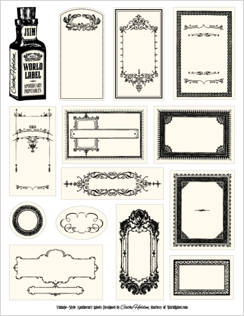 Bottle labels for your apothecary products worldlabel blog apothecary labels maxwellsz