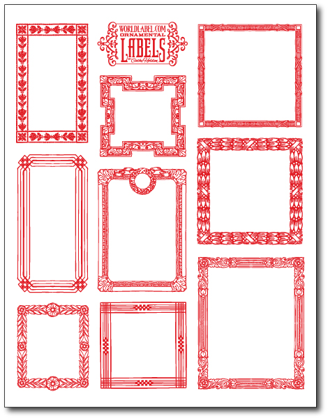 Vintage ornamental framed labels by cathe holden worldlabel blog vintage labels download this template maxwellsz