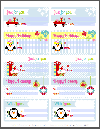 Avery Gift Label Template - Gift Ideas