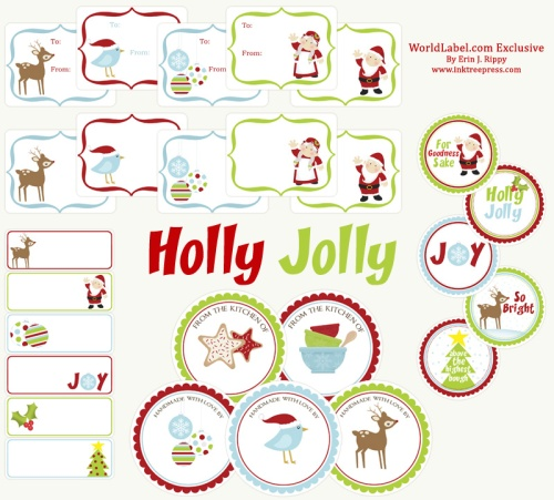Holiday Labels set with Penguins by Anythingbutperfect.com ...