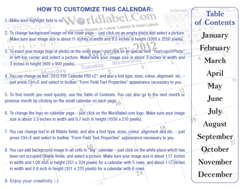 How to Customize the calendar