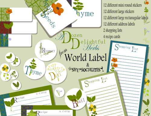 herbs labels