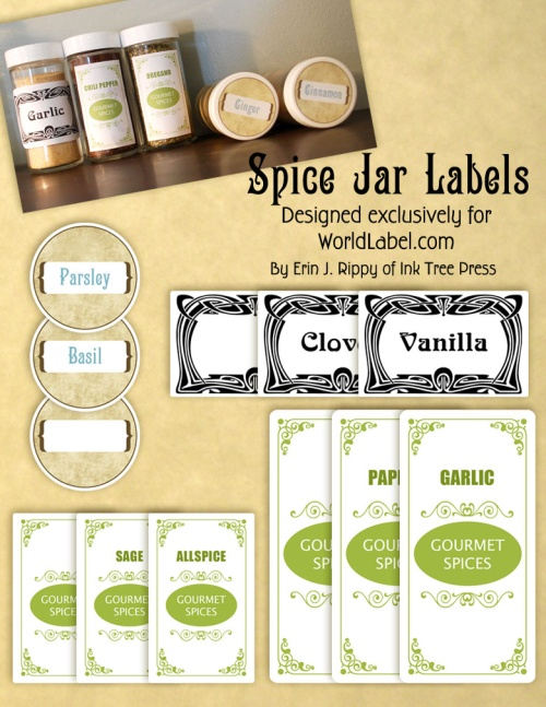 spice jar labels and template to print