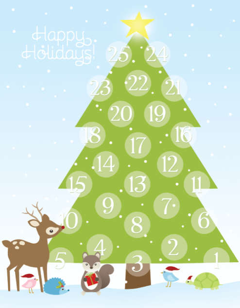 graphic relating to Free Printable Advent Calendar Template referred to as Printable Introduction Calendar Absolutely free printable labels