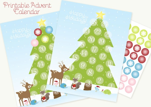photograph about Free Printable Advent Calendar Template called Printable Introduction Calendar Cost-free printable labels