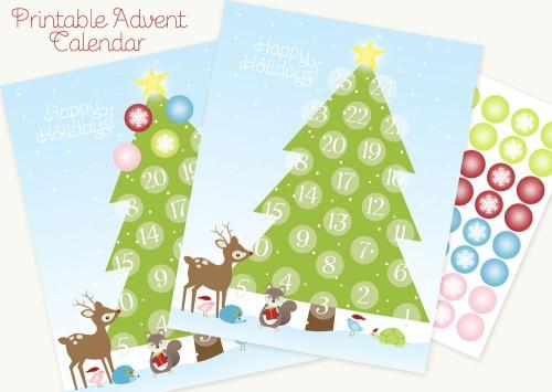 Printable Advent Calendar | Worldlabel Blog