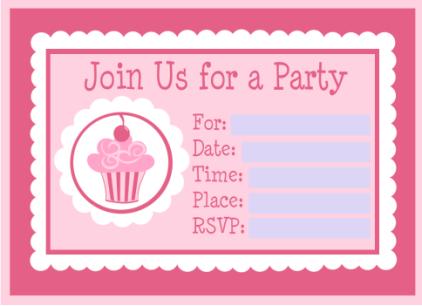 cupcake invitations template cake ideas and designs