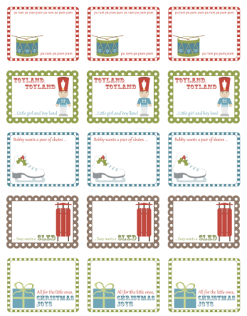 free printable holiday labels by inktreepress com worldlabel blog