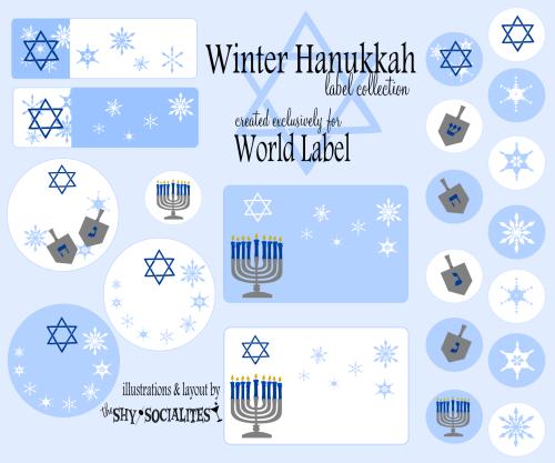 hanukkah labels