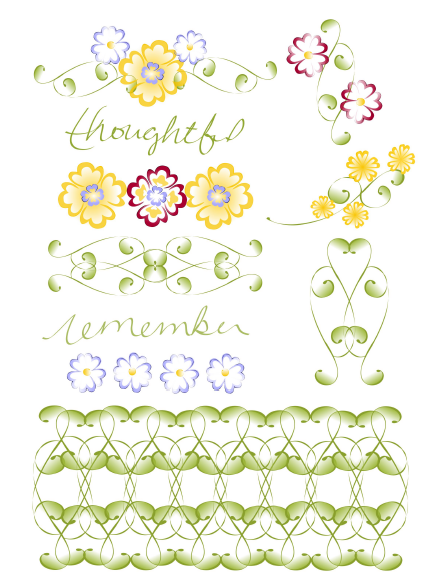 Journal embellishments label set in a Watercolor Garden Design