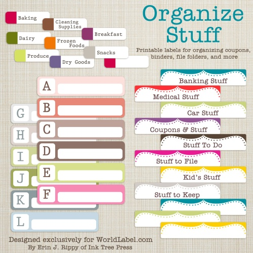 Organizing Labels For More Stuff Design 2!