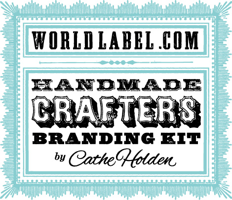Handmade crafters label branding kit by cathe holden worldlabel blog for World label blog