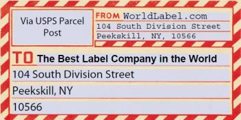 Vintage gummed parcel post shipping labels worldlabel blog for Post it labels templates