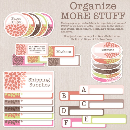 Download Free Office and Organizing Label Templates