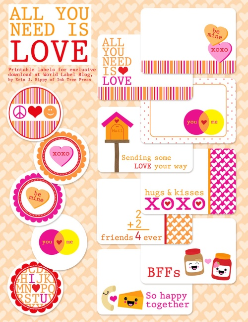 Valentines Day Label Templates  Worldlabel Blog  Part