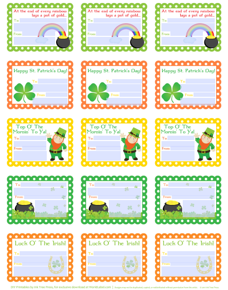 St Patrick\'s Day Labels and Stickers | Worldlabel Blog