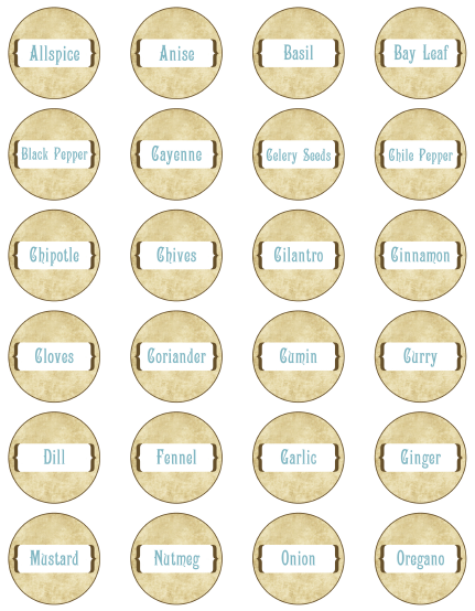 photo about Printable Spice Labels called Spice Jar Labels by way of Ink Tree Force Cost-free printable labels