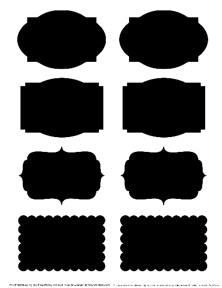 photo relating to Printable Chalkboard Labels referred to as Chalk Labels inside of fillable templates No cost printable labels