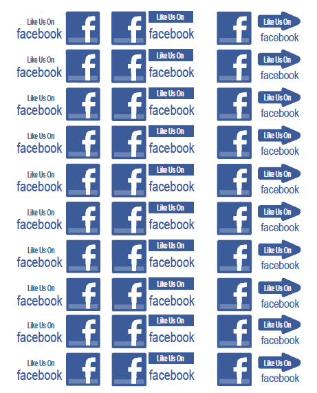 Facebook labels and stickers for free worldlabel blog for Like us on facebook sticker template