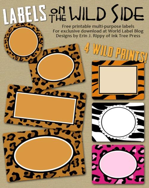 Labels with Wild Cat Prints & Zebra | Worldlabel Blog