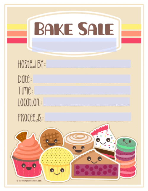 bake sale flyer template word free