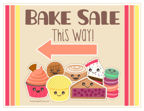 image about Sales Signs Templates called Bake Sale Printable Labels Fixed Totally free printable labels
