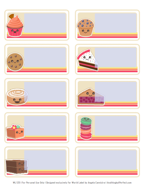 bake sale printable labels set worldlabel blog